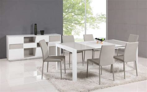 modern dining sets extendable glass top leather dining table and chair sets