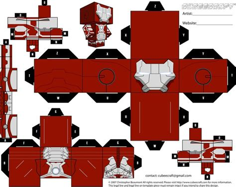 Iron Papercraft - 17 best images about cubeecraft sheet on