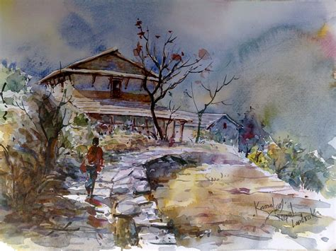lalitkala creations beautiful watercolor landscape