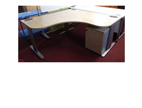 Maple Corner Desk Maple Corner Desk M Ped Blandford Office Furniture
