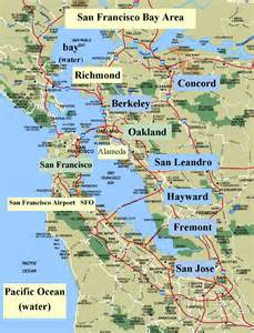 Sanfrancisco bay area and california maps english 4 me 2