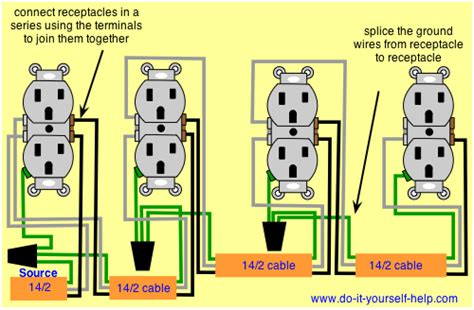 wiring diagram for a series of receptacles electrical