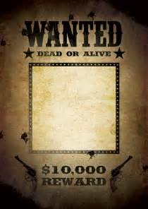 Wanted Poster Template by Wanted Poster Template Free Poster Templates Backgrounds