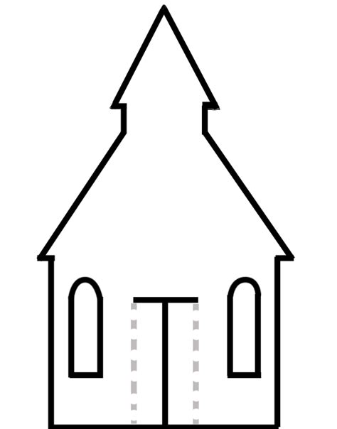 Paper Church Template toddler church crafts crafts and house template on