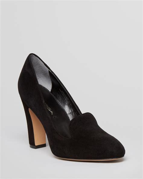 high heel loafer pumps via spiga loafer pumps high heel