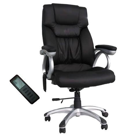 shiatsu office desk chair heating executive swivel