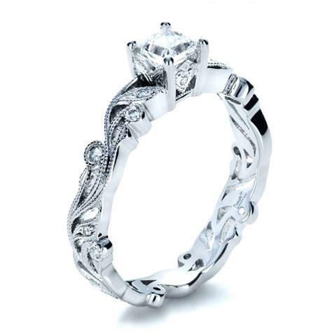 custom organic princess cut engagement ring 1251
