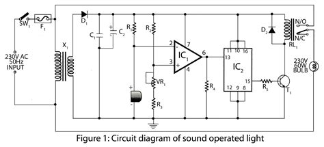 sound operated light electronics project