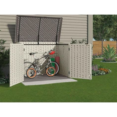 suncast stow   ft     ft   resin horizontal storage shed bms outdoor