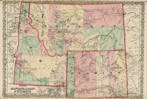idaho montana map colton s montana idaho wyoming barry
