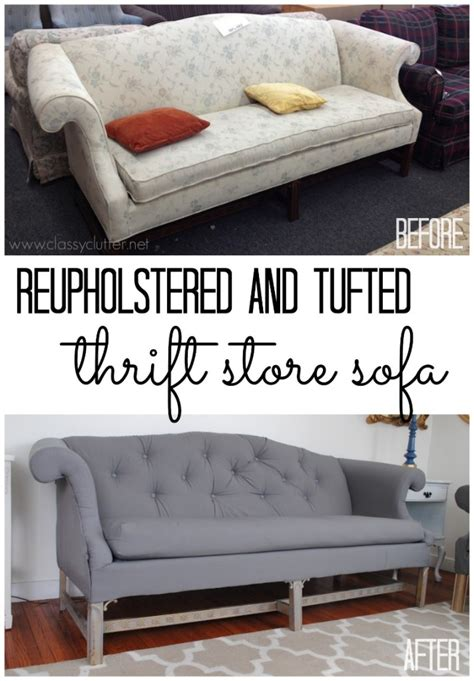 6 projects showing how to reupholster an sofa