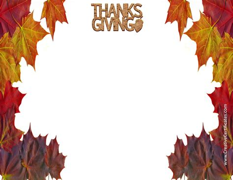 thanksgiving cards template free customizable free thanksgiving border templates customizable printable