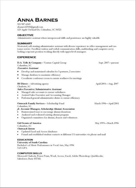 Resume Exles For Skills And Abilities by Resume Format Resumes Exles Skills Abilities