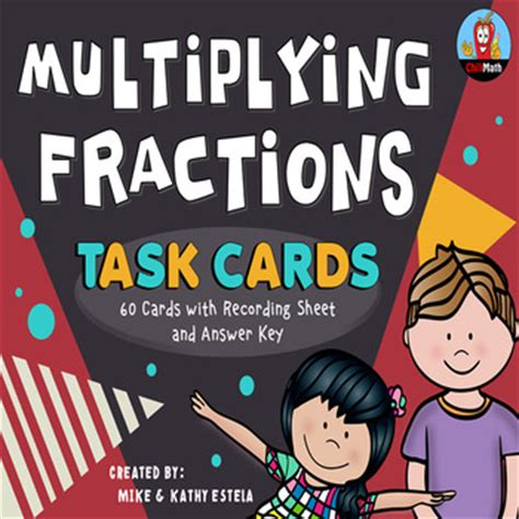multiplying fractions using cards template multiplying fractions task cards by chilimath teachers