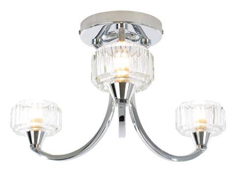 Bathroom Ceiling Lights B Q Orara Chrome Effect 3 L Bathroom Ceiling Light