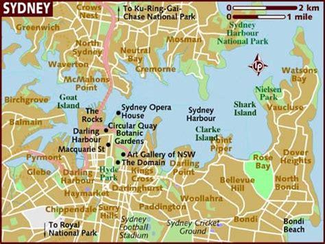 sidney australia map map of sydney