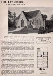 Storybook Cottages Floor Plans sears riverside english cottage style 1930s kit homes