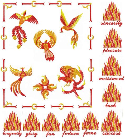 design embroidery machine feng shui fenix phoenix 9 machine embroidery designs ebay