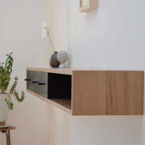 Floating Console Table Floating Console Table White Oak Shelf Joinery Tables And Drawers