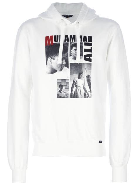 Hoodie Muhammad Ali Grey 01 Berkualitas 1 lyst dolce gabbana muhammad ali hoodie in white for