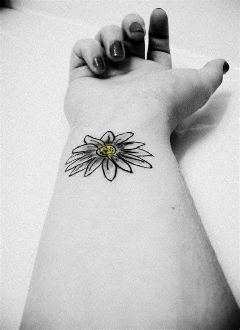 daisy wrist tattoos 40 black and white tattoos