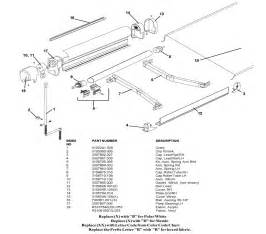 Carefree Of Colorado Awning Repair Parts Laurelhurst Distributors Parts Breakdown Awnings