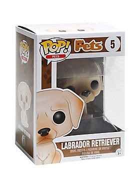 Funko Pets Black Labrador Retriever 11255 funko pets pop labrador retriever vinyl figure topic