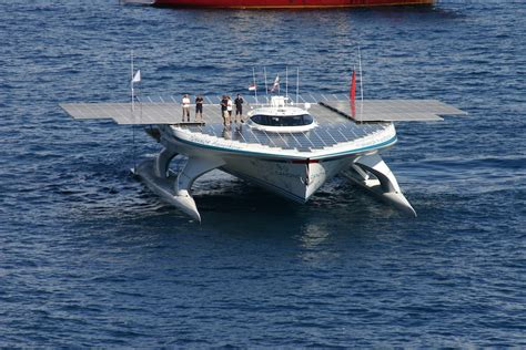 smallest catamaran to sail around the world ms turanor planetsolar departs monaco 27 september 2010