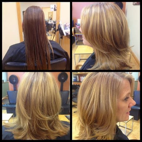 shoulder length hair with layers at bottom medium length long layered haircuts