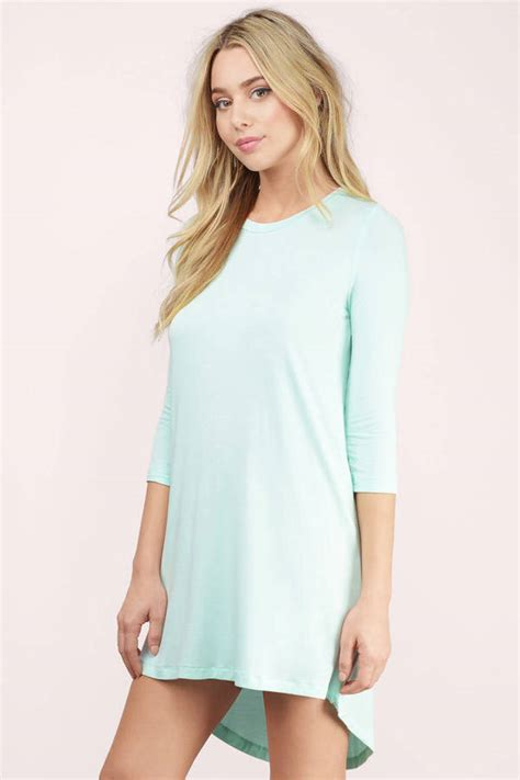 Dress Of The Day Costa Tunic by Tunic Dress Sleeve Dress Green Dress Aqua High