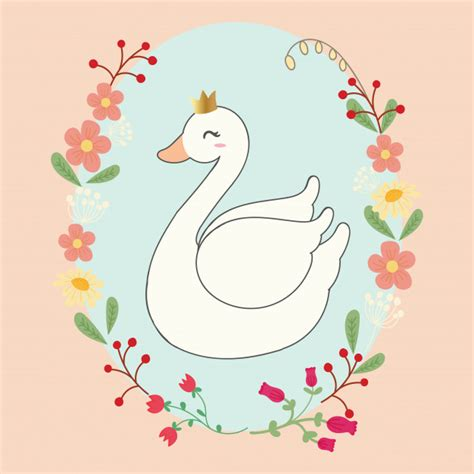 cisne bonito baixar vetores premium