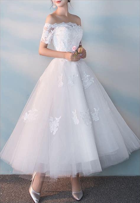 Brautkleider 50er Jahre by 50er Jahre Brautkleid Mit Ausschnitt Und 196 Rmeln