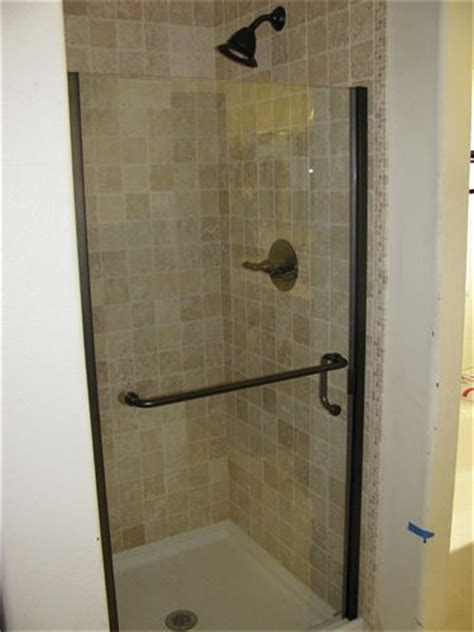 Stand Up Shower Glass Door Tiled Stand Up Shower Pinteres