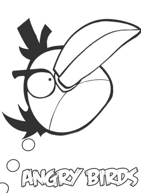 angry birds yellow bird coloring page kids n fun com 42 coloring pages of angry birds