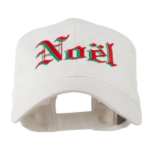 embroidered cap white christmas noel shadow cap e4hats