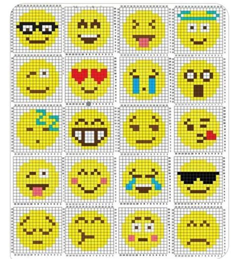 free counted cross stitch patterns and graphs movie emoji cross stitch pattern projekt att testa pinterest