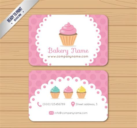 25 Free Pink Business Card Templates For Download Designyep Bakery Business Card Template