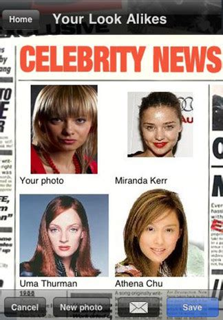 celeb look alike application review of celebtwin celebrity look alike app for iphone