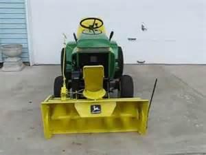 1975 john deere 210 lawn tractor with model 37a snowblower
