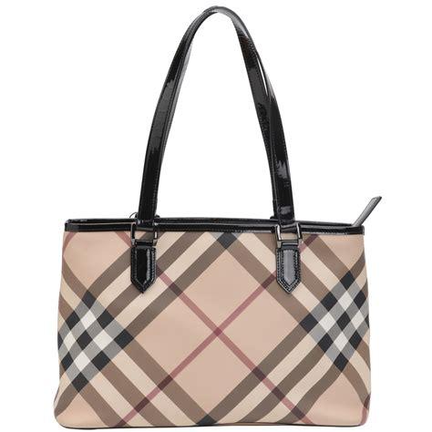 check shopper bag authentic burberry check shopper tote bag beige at