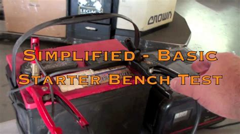 how to bench test starter bench testing a ford alternator