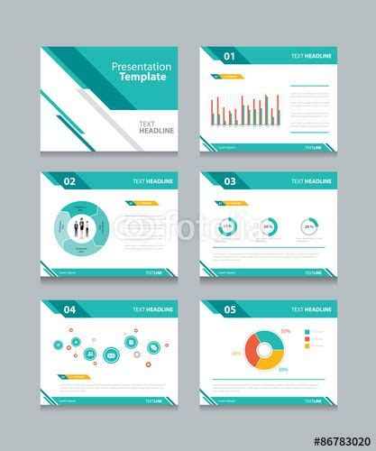 Open Office Presentation Templates Card Layout by Vector Business Presentation Template Set Powerpoint