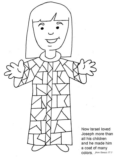 printable coloring pages joseph coat joseph s coat of many colors pre k bible crafts