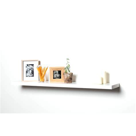 handy shelf 1200 x 240 x 38mm white matt floating shelf