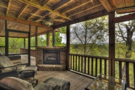 Screened In Porch With Fireplace by Screened Porch With Fireplace Outdoor Spaces