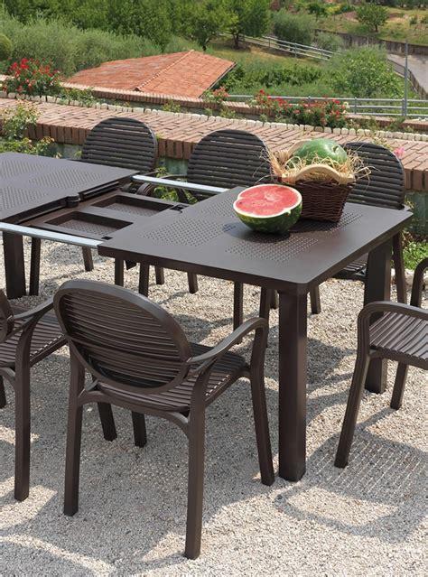 sedie e tavolo da giardino tavolo da giardino allungabile levante nardi