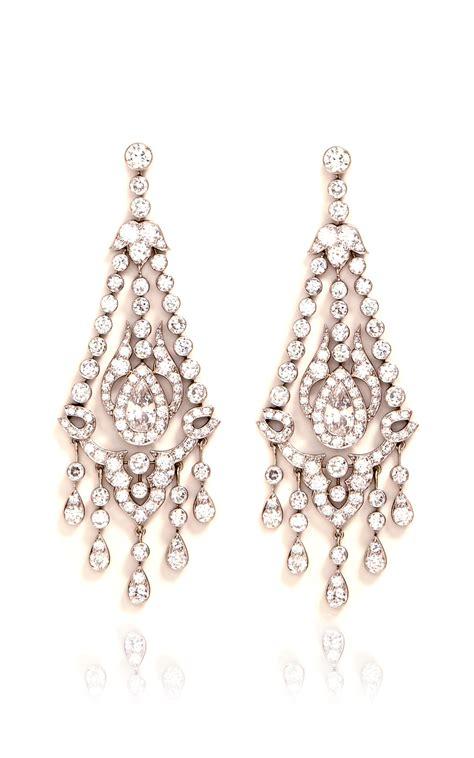 Lyst Simon Teakle Art Deco Chandelier Earrings In Metallic Deco Chandelier Earrings