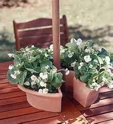 umbrella table planter it yard garden