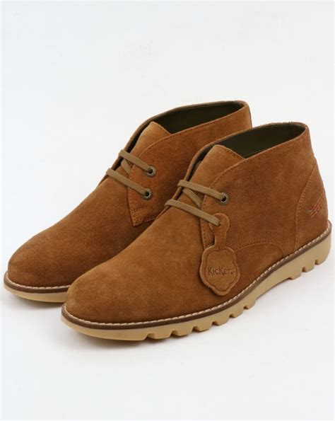 kickers high casual suede coklat kickers kymbo chukka suede boots sand ki hi chunky shoe