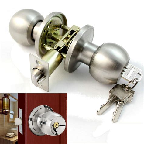 Door Knobs With Key Lock by Stainless Steel Bathroom Door Knobs Set Handle